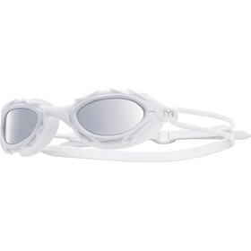 TYR Nest Pro Nano Goggles Metelized, white